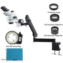 3.5X-90X Simul-Brenn Industrielle Stereo Trinokular Microscopio Gelenk Clamp Halter Halterung Arm Für Telefon PCB Löten