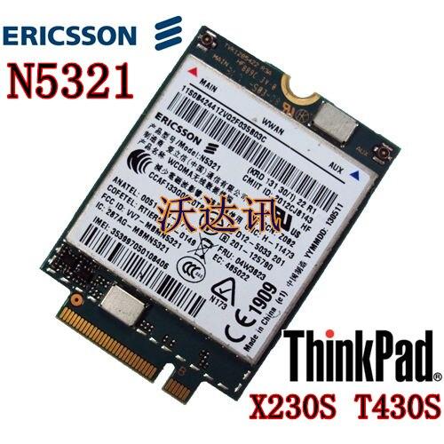 Ericsson N5321 Mobile Broadband HSPA+ NGFF M.2 04W3822 04W3823  x1 carbon X230s X240S t431s T440 S540 W540 3G Module WWAN CARD