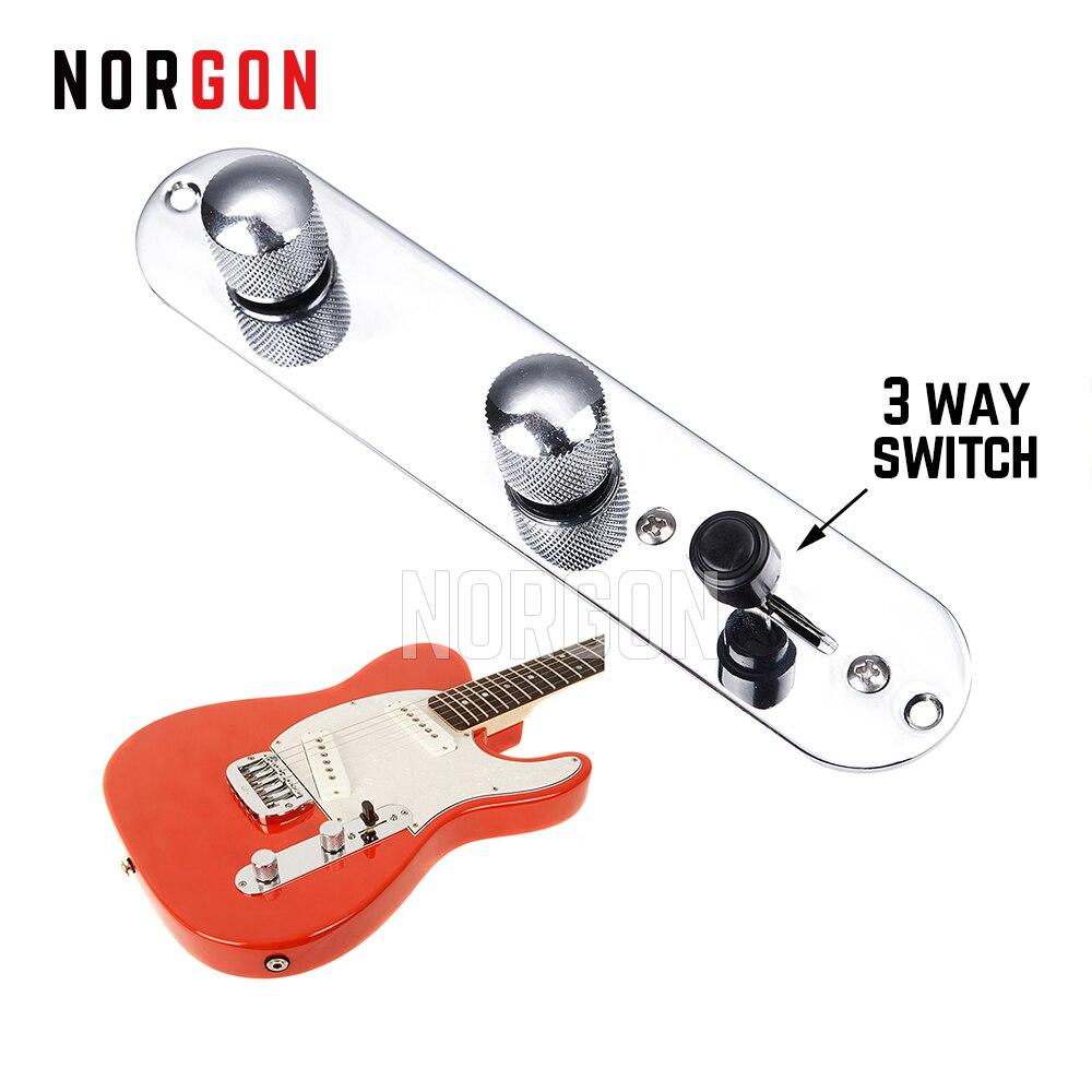 Norgon, placa de Control con cable, guitarra GCPL01 TL Tele Telecaster, botones de cambio de 3 vías, piezas de repuesto y accesorios de interruptor