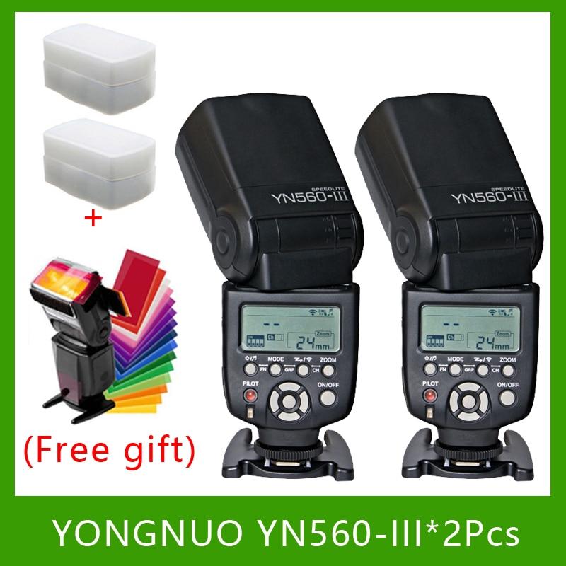 2 шт. YongNuo YN560-III YN560III Вспышка Speedlite фонарик для Canon Nikon