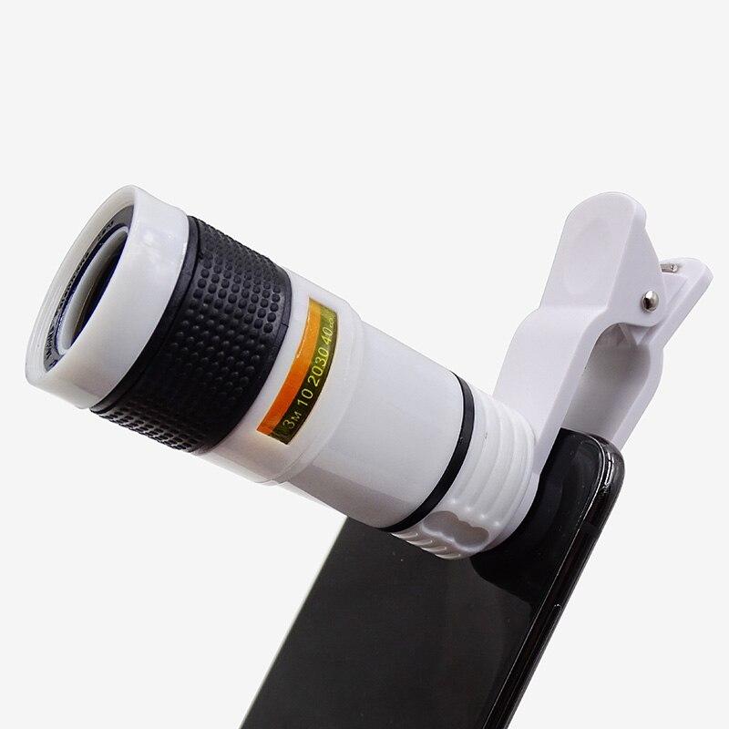 Телескопический объектив для мобильного телефона Монокуляр мобильный iPhone Регулируемый зум объектив смартфон объектив камеры Универсальн...