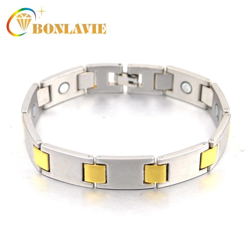Healing Magnetic Bangle Balance Health biżuteria bransoletka męska złoty kolor miedziane bransoletki Watch Band Design dla mężczyzn