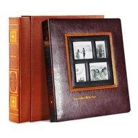 photo album scrapbook pu leather albums cover interleaf type wedding pictures album large volume retro photograph baby albums