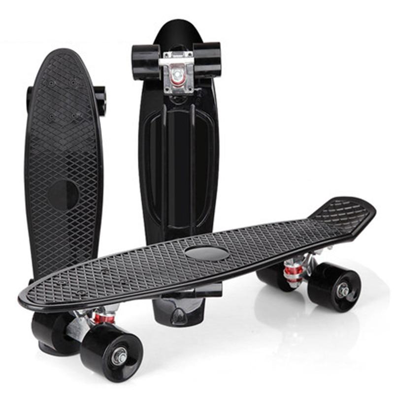 Mini Cruiser Skateboard Color Single Rocker Skate Board Four Wheels Small Fish Plate Outdoor For Adult Kids Step Transport IE01