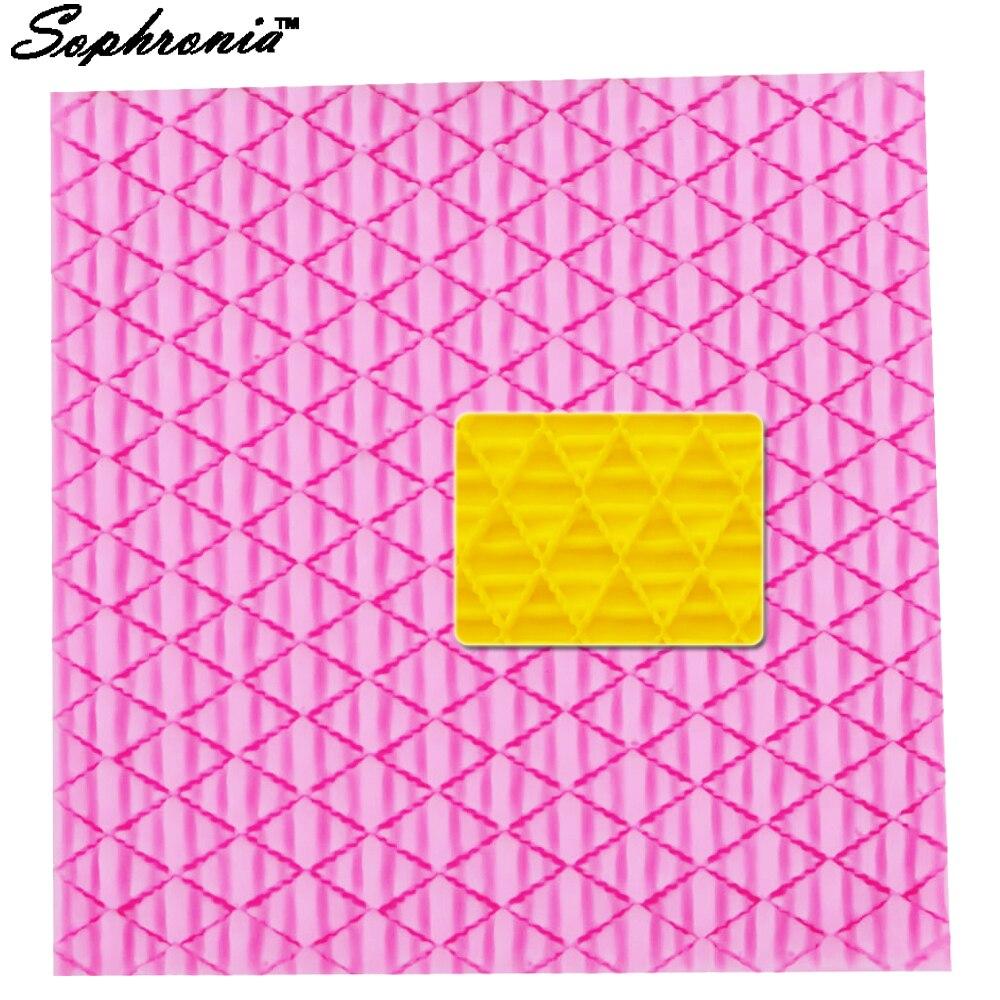 10 unids/set de molde para agujas de silicona, herramienta de decoración de pasteles con textura de lana tejida, herramientas para arcilla FDA M481, 9,8x9,8x0,4 cm