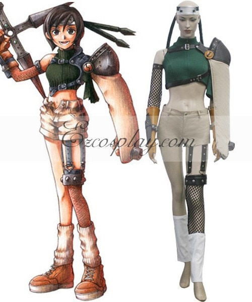 Final Fantasy VII Yuffie Kisaragi Косплей Костюм E001