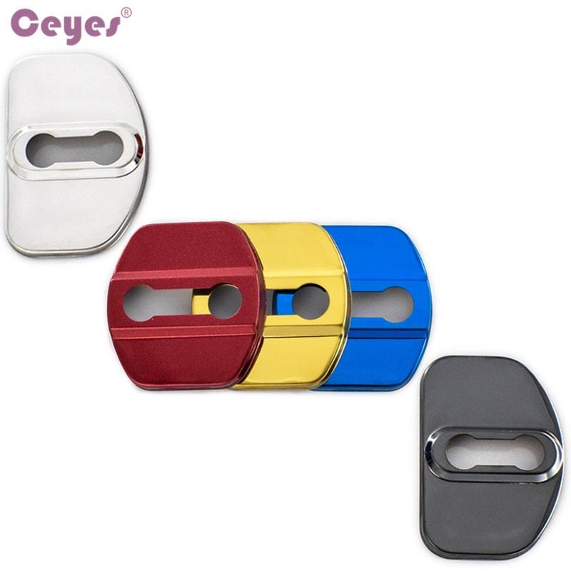 Ceyes автомобильный защитный замок для дверей, чехол для автомобиля для Renault Megane 2 Scenic Laguna 2 Captur Fluence Latitude, автомобильный Стайлинг