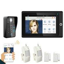 "Popular 7"" WiFi Wireless RFID Password Video Door Phone intercom Doorbell IP Camera IR Night Vision Home Alarm System"