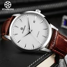 STARKING automatique montres hommes acier inoxydable affaires montre-bracelet en cuir mode 50M étanche mâle horloge Relogio Masculino