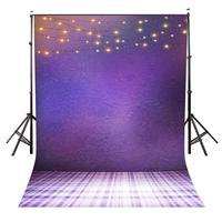 5x7ft Pantone 18-3838 Backdrop Hanging Lights Backdrop for Photo Shoot Background Studio Props