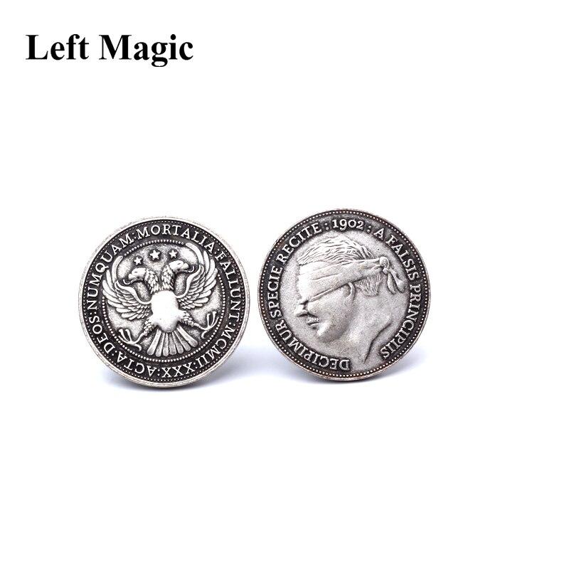 1902 Антикварная Серебряная отделка монеты-Волшебные трюки монеты магические трюки реквизит аксессуары сцена крупным планом магический мен...