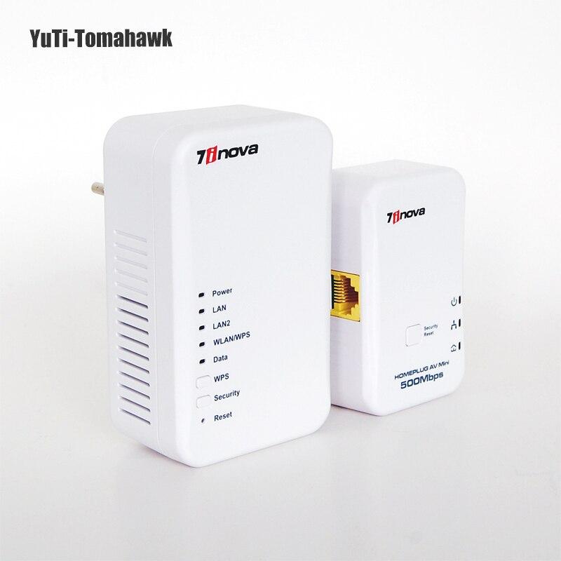 500 Mbps velocidad de línea de alimentación 300 Mbps inalámbrico/velocidad de cable Homeplug AV Powerline Ethernet adaptador Wifi Hotspots Router inalámbrico