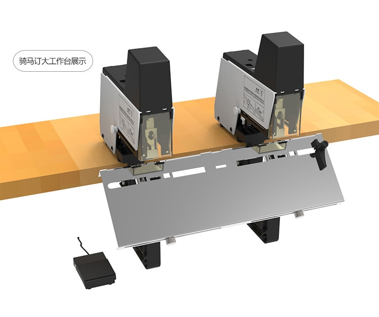 ST100G electric double nail  heavy-duty electric Level stapling / saddle stitchers , paper files automatic stapler enlarge