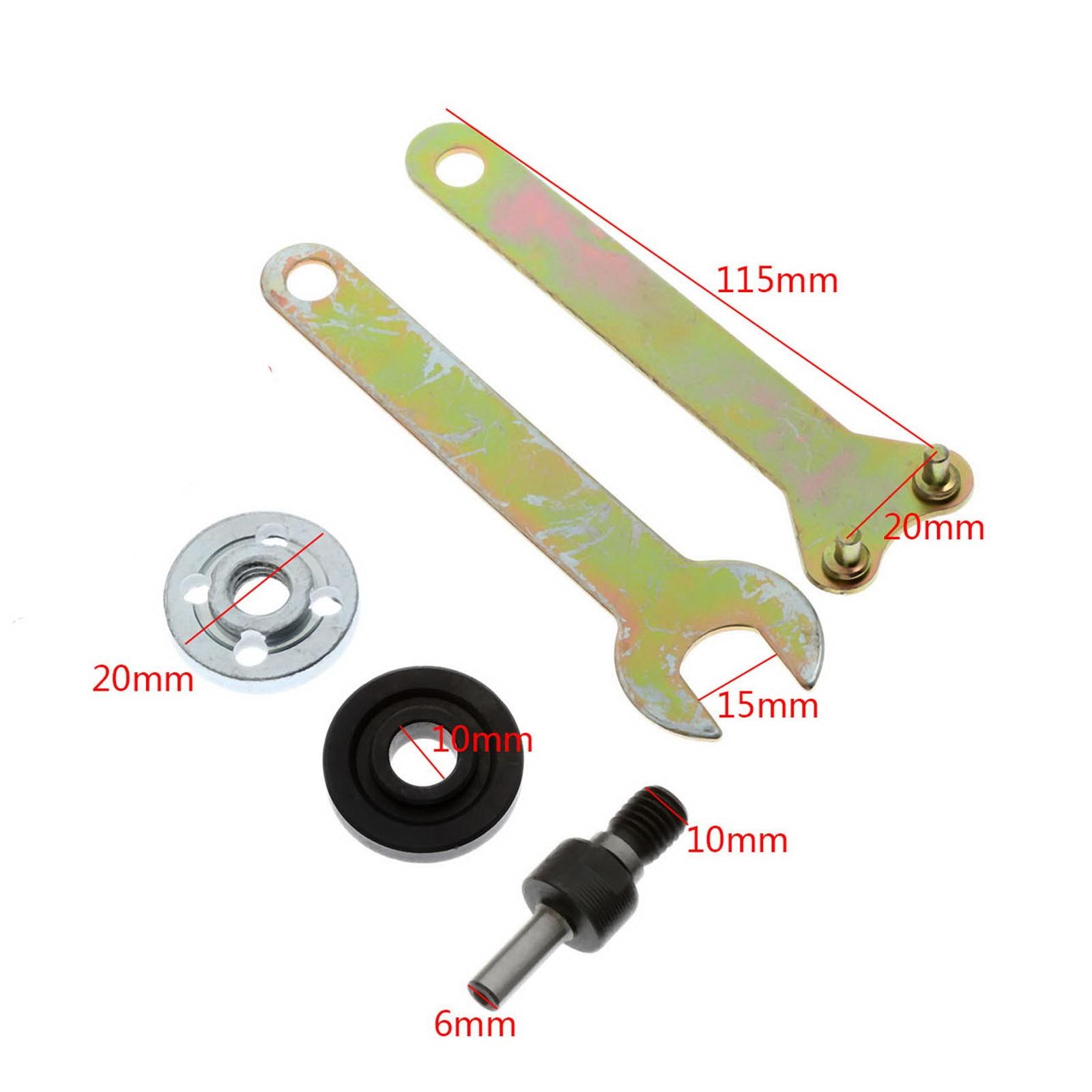 5 uds. Biela eléctrica taladro fresa de ángulos mango biela para amoladora disco de rueda de corte 6mm vástago redondo herramienta de conector