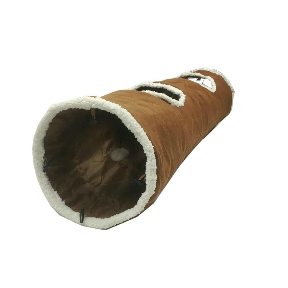 Túnel de juguete para gato para perro mascota de juego para gato S/M Cordero Cachemira suave túnel con bola Dia 30cm gato grande gatito todos disponibles