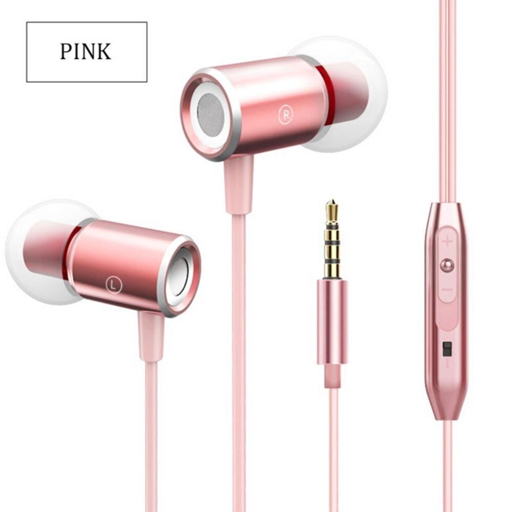 Auriculares Mega graves Jack de 3,5mm, auriculares de Control en línea con sonido estéreo de adsorción magnética
