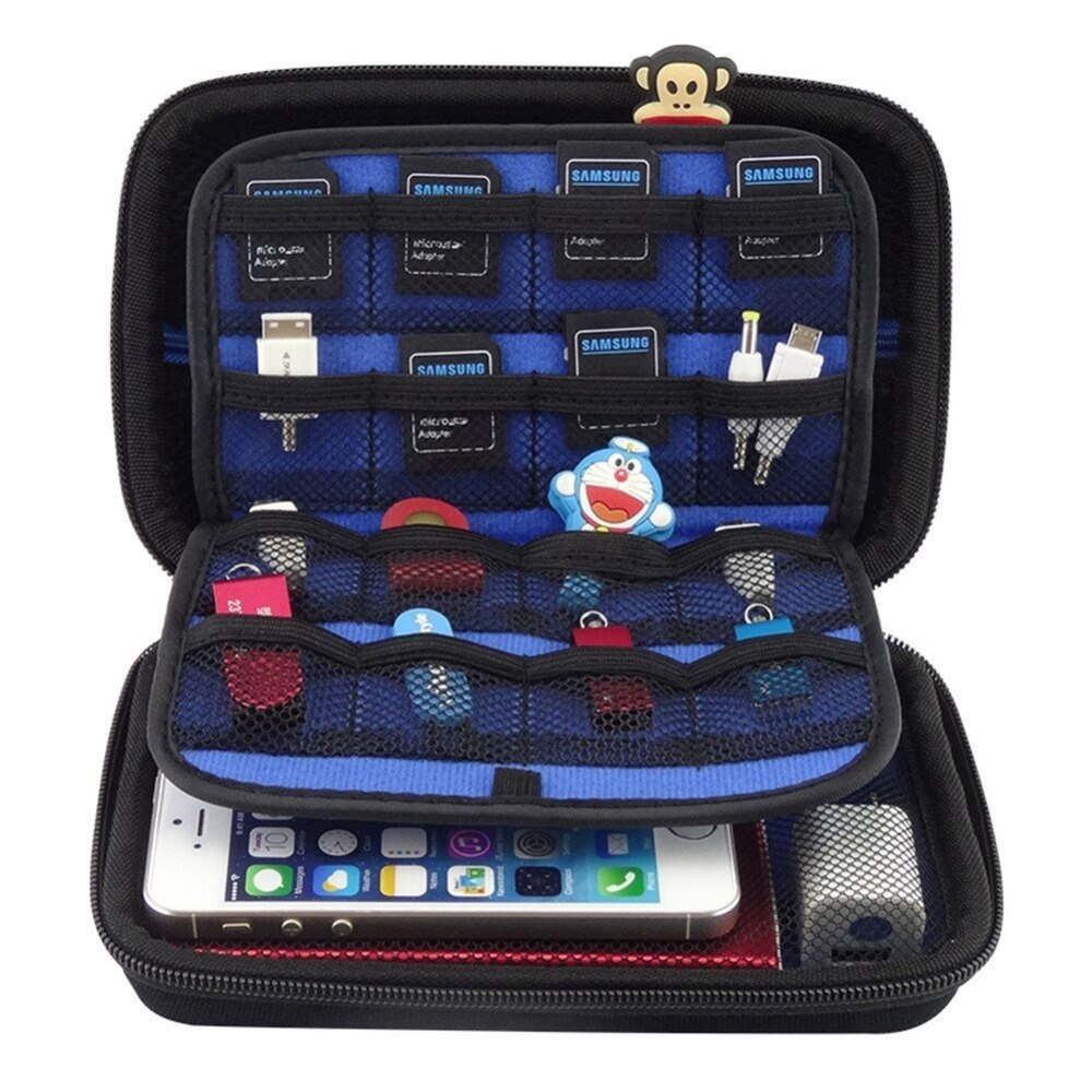 2.5 inch SSD HDD Digital Accessories Square Travel Storage Bag For New 3DS XL/3D Game Player Consoles HDD Power Bank