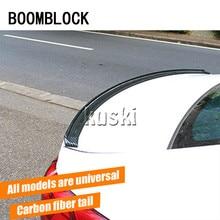 BOOMBLOCK Car Carbon Fiber Rear Spoiler Wing for For Ford Focus 2 3 VW Passat B6 B5 B7 B8 Opel Astra h g j insignia vectra corsa