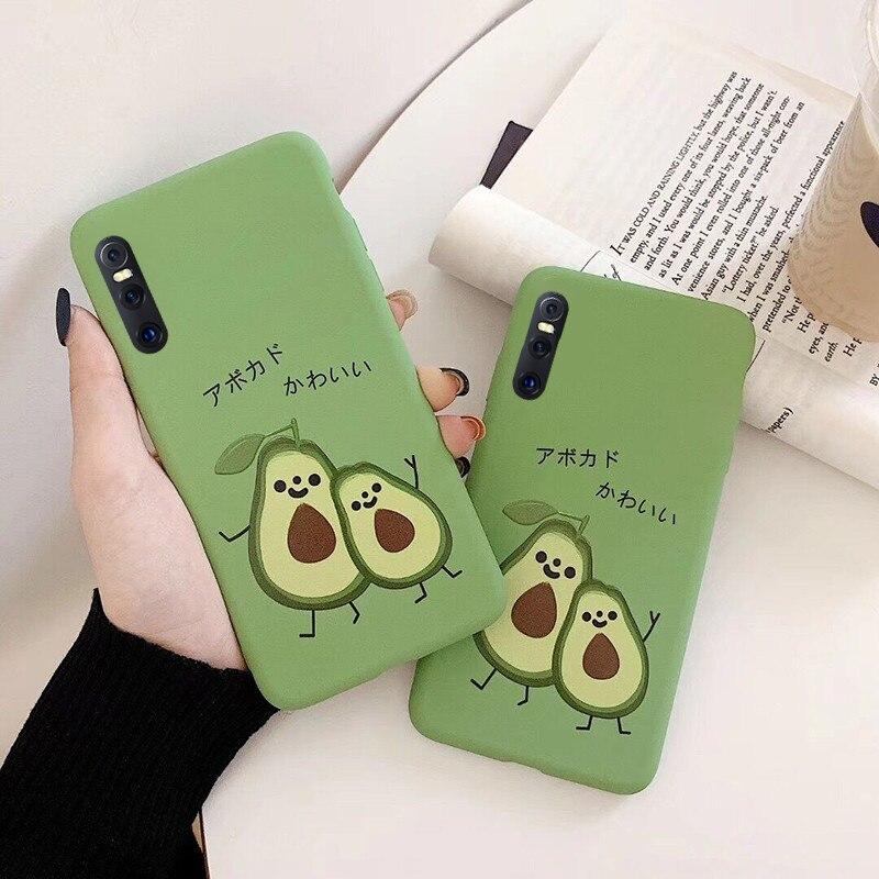 Fashion Scrub Cute Avocado Matcha Green Case Cover For Huawei Honor 8 8X MAX 8A 9i 10 V10 V20 P30 P20 P10 Pro Lite Enjoy 9S Capa