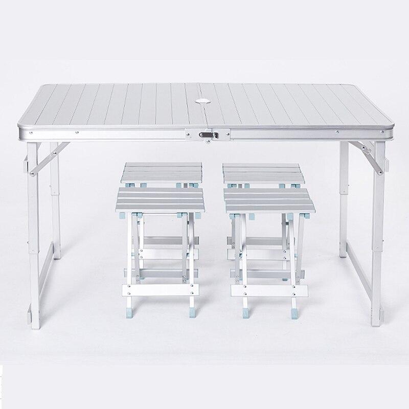 Открытый досуг алюминиевая складные столы и стулья простой стол для пикника стойло Кемпинг активности Портативный стол
