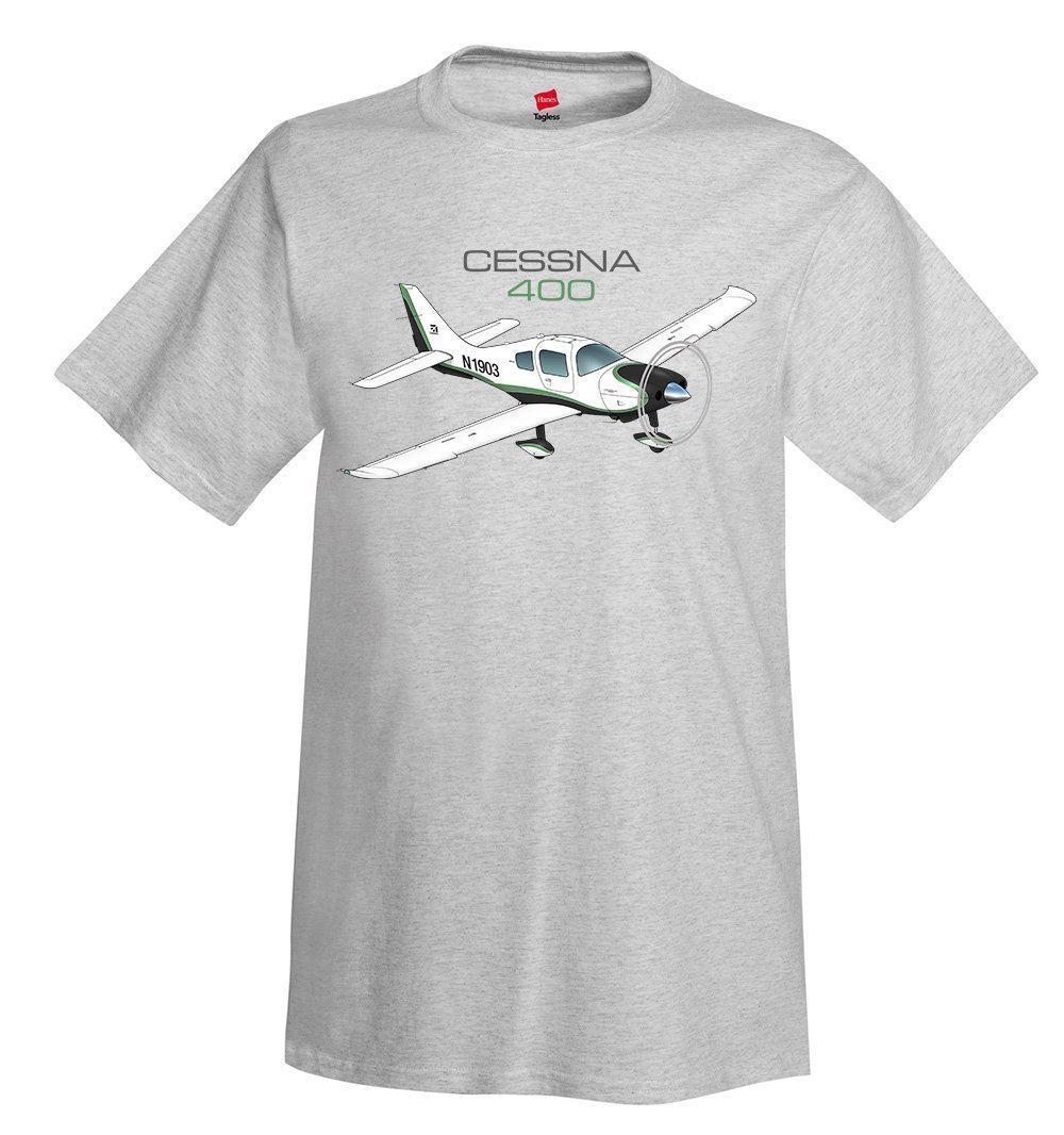 100% de impresión de algodón de verano hombre cuello Cessna 400 Corvallis TT camiseta de avión-camiseta personalizada camiseta