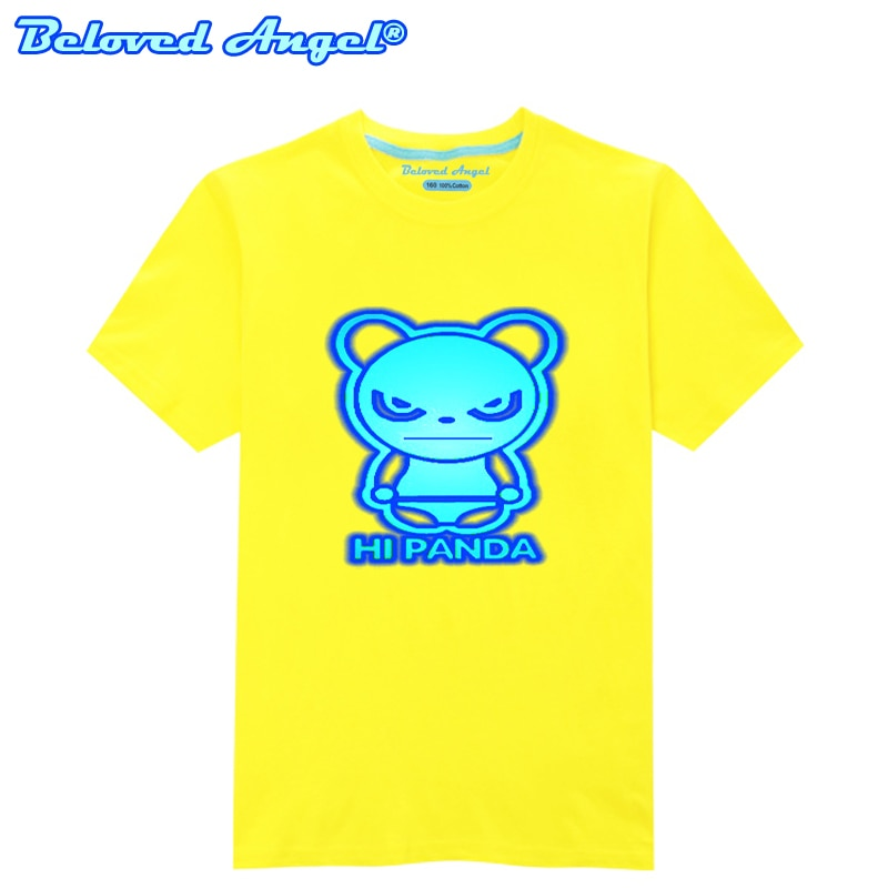 100% algodón luminoso bebé Tops dibujos animados niños camiseta ropa de niño niñas camisetas de manga corta niños Tee ropa de niños 3 -15 T