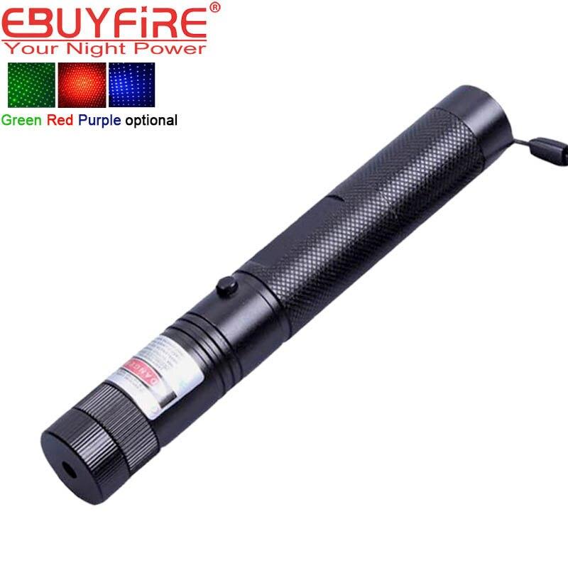 Laser 303 Taschenlampe High power led-leuchten 532nm Pointer Brennen Spiel Pointer Pen mit Sicheren Key Grün Rot lila