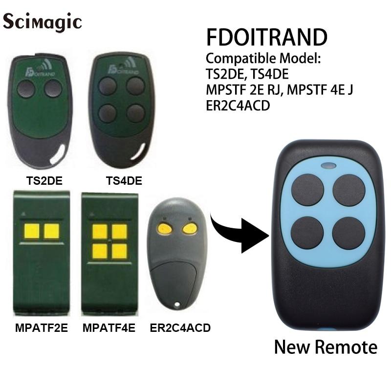 Doitrand Fdoitrand Compatível controle remoto 433MHz saudável ts4de ts2de mpstf 2e mpstf 4e rj rj de comando da porta da garagem abridor