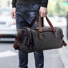 Дорожная сумка из искусственной кожи, Большая вместительная сумка-мессенджер для мужчин, 2020