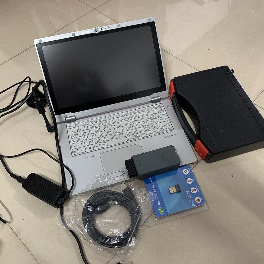 Vas5054 odis v5.13 chip completo con software oki con ordenador portátil cf-ax2 cpu i5 ram 8g pantalla táctil ordenador escáner de diagnóstico