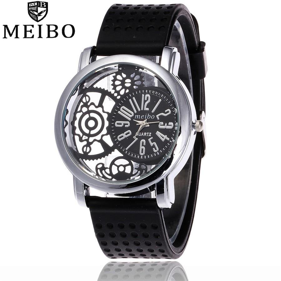 Top Silicone Rubber Mesh gadget dial Watch Sport Women Analog Quartz Wristwatches Casual Girl Teen A