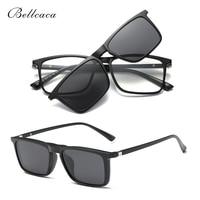 Очки в оптической оправе для мужчин и женщин, поляризационные солнцезащитные очки с клипсой, магнитные, BC343