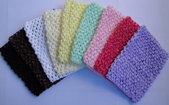 Colorido Bebê 6 polegadas Crochet Tutu Tops Tubo Infantil Waffle de Cordas Corset Malha Tees Tanques Crianças Elastic Headbands Hairbow 500 pçs/lote