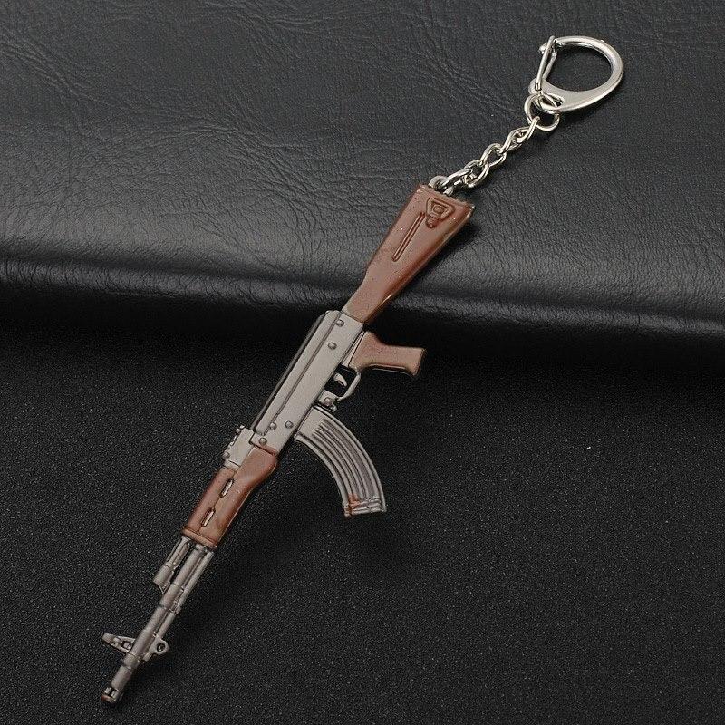 Gioco di moda Portachiavi AK47 Fucile Mitragliatore VSS Fucile Da Cecchino M416 Della Pallottola Del Pendente della Catena Chiave degli uomini Best Souvenir In Lega di Regalo anello chiave