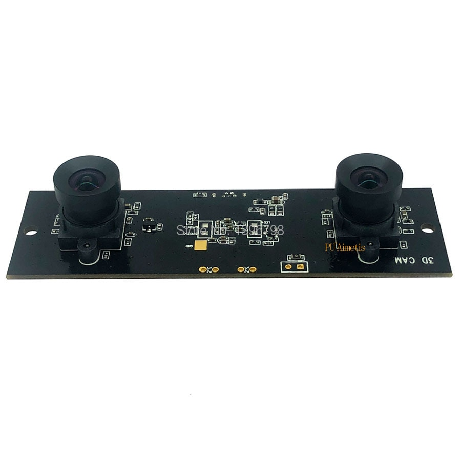 Não distorção hd sincronização flexível estéreo webcam mjpeg módulo de câmera usb para realidade virtual de vídeo 3d vr