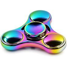 Spinner en métal coloré chaud de Spinner de Spinner darc-en-ciel pour des jouets Anti-Stress de Rotation dautisme pour des enfants