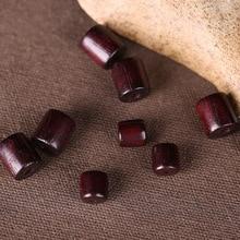 50 pcs/lot artisanat naturel baril Rondelle perle 6mm 8mm bois de santal prière bouddha tambour breloque perles en bois pour la fabrication de bijoux bricolage