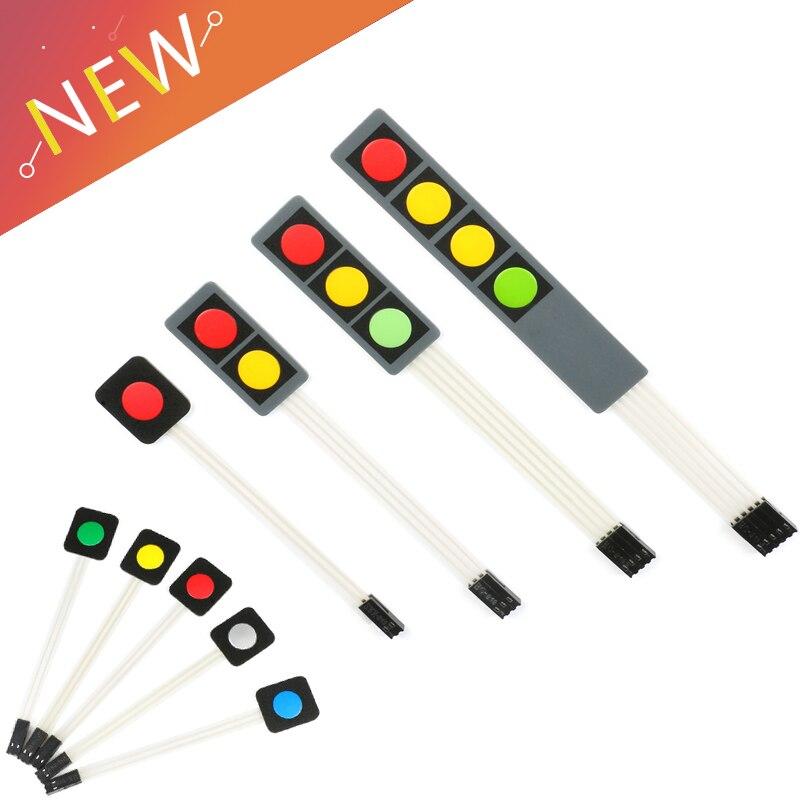1 2 3 4 botón clave membrana interruptor matriz teclado de matriz teclado Control cojín de panel DIY Kit para Arduino