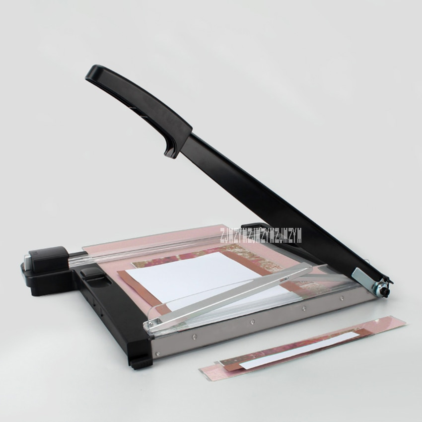 OC500 دليل الة قطع الورق مكتب ورق طباعة الصور المتقلب آلة الفولاذ المقاوم للصدأ المقصلة مقص بطاقات A4 آلة قص الورق