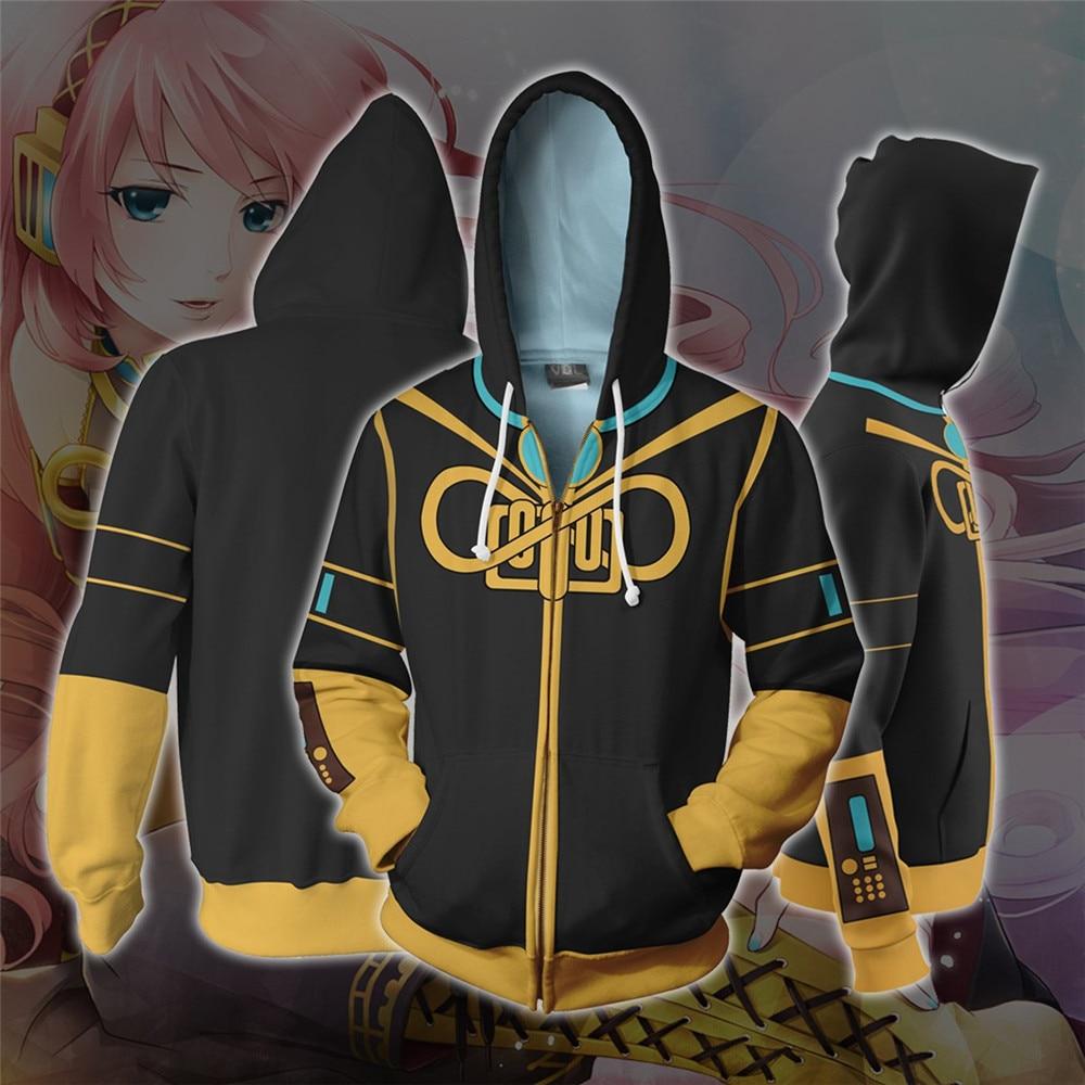 Hatsune Miku Cosplay Megurine Luka Anime Hoodie disfraz sudadera chaqueta abrigos hombres y mujeres nuevo
