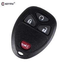 KEYYOU 4 أزرار دخول بدون مفتاح مفتاح السيارة عن بعد قذيفة ل بويك تيرازا 2005 - 2007 ل G-M/جي إم سي شيفروليه/بونتياك