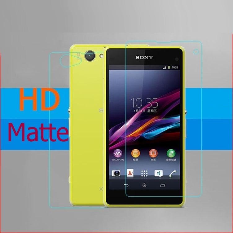 Película protectora frontal + trasera HD transparente y brillante para Sony Xperia Z1 Z2 Z3, Mini pantalla compacta, película protectora de panel mate antideslumbrante