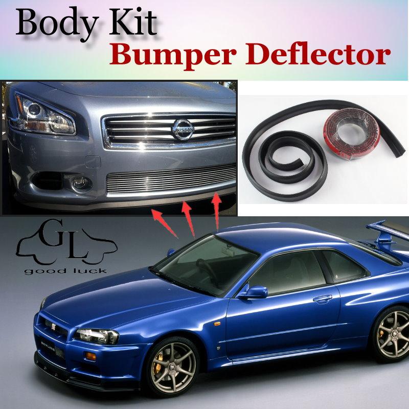 Deflector de labios de parachoques para Nissan Skyline GT R GTR R30 R31 R32 R33 R34 V35, falda de alerón frontal para TopGear/Body/Tira de Kit