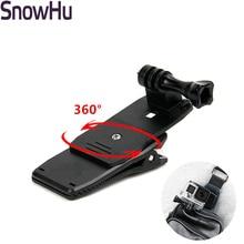SnowHu pour Gopro accessoires 360 degrés rotatif sac à dos chapeau pince rapide fixation pour Go Pro Hero 8 7 6 5 sj4000 sj5000 GP138A
