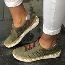 Expédition rapide Femmes Chaussures décontracté Vulcanisé Chaussures Baskets Basses Femme Confortable sans lacet Appartements Mocassins Zapatos Mujer livraison directe