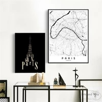 paris map minimalist quotes canvas art print painting modern wall picture home decor bedroom decorative posters no frame quadros