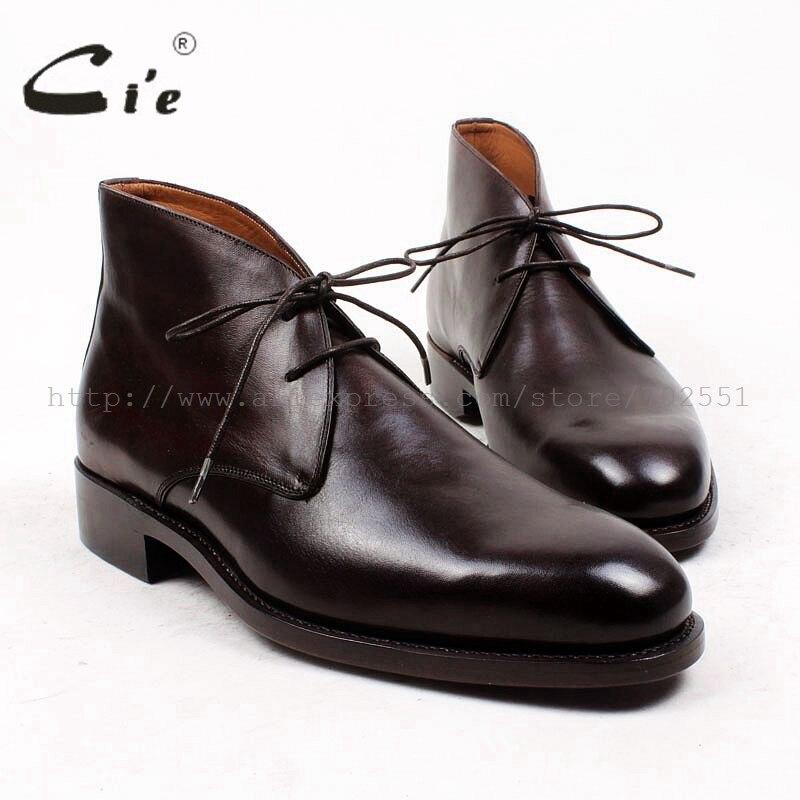 حذاء رجالي دائري من جلد العجل الأصلي 100% ، حذاء جلدي مصنوع يدويًا ، A90