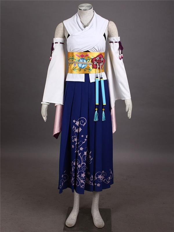 2019 Ropa nueva Anime Final Fantasy X Cosplay de Yuna, traje de disfraz de alta calidad, disfraz de Cosplay, Envío gratis O