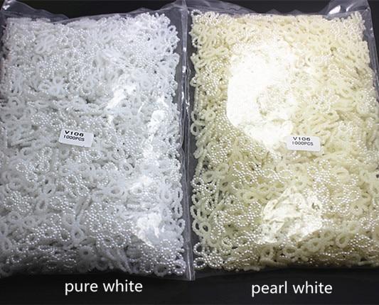 1000 unids/lote 18*10mm plana ABS resina hueco bowknot perla para DIY scrapbooking, teléfono deco, V106