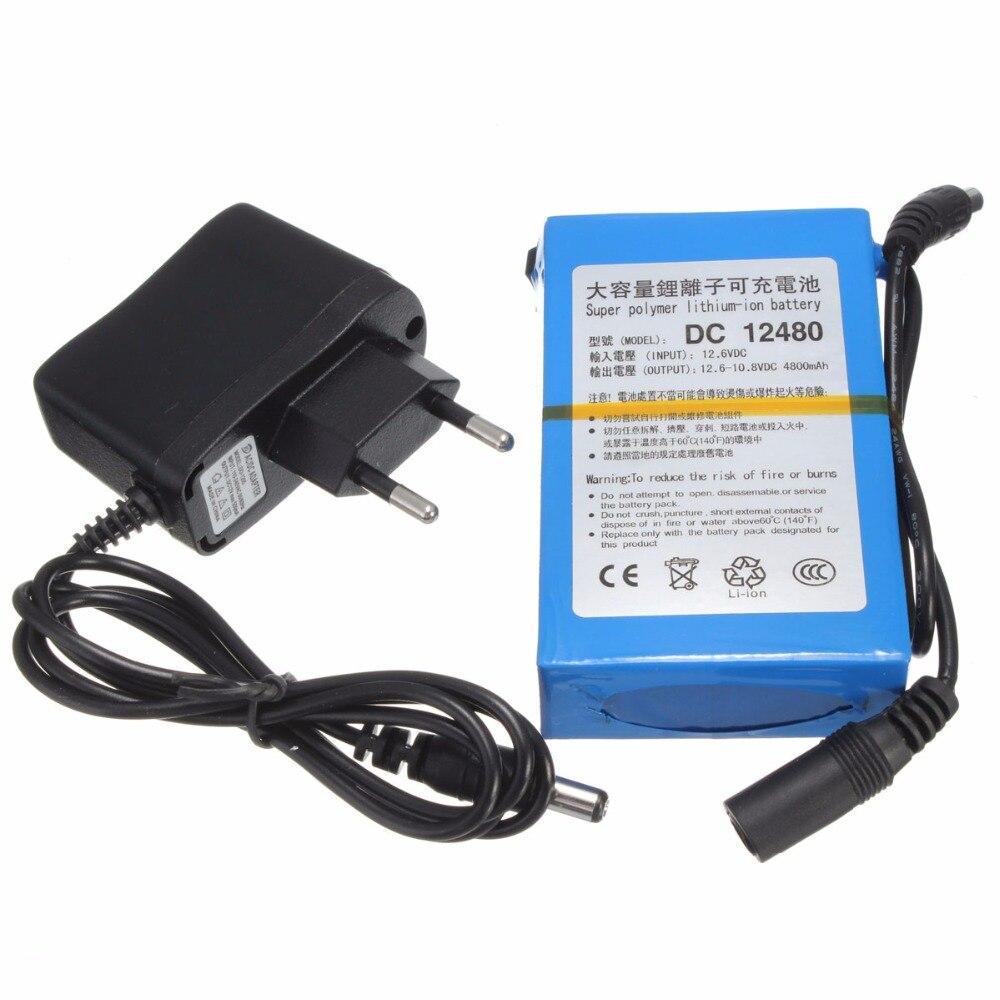 GTF 12 V 4800 mAh Lithium-Batterie Akku Li-Ion Batteria mit DC 12480 Ladegerät EU/US stecker